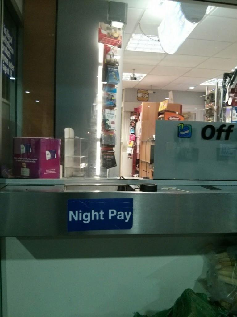 Jendela untuk penjualan malam hari